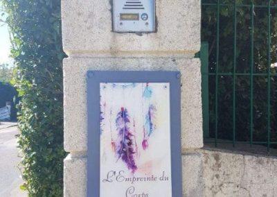 Plaque L'Empreinte du Corps Dieppe