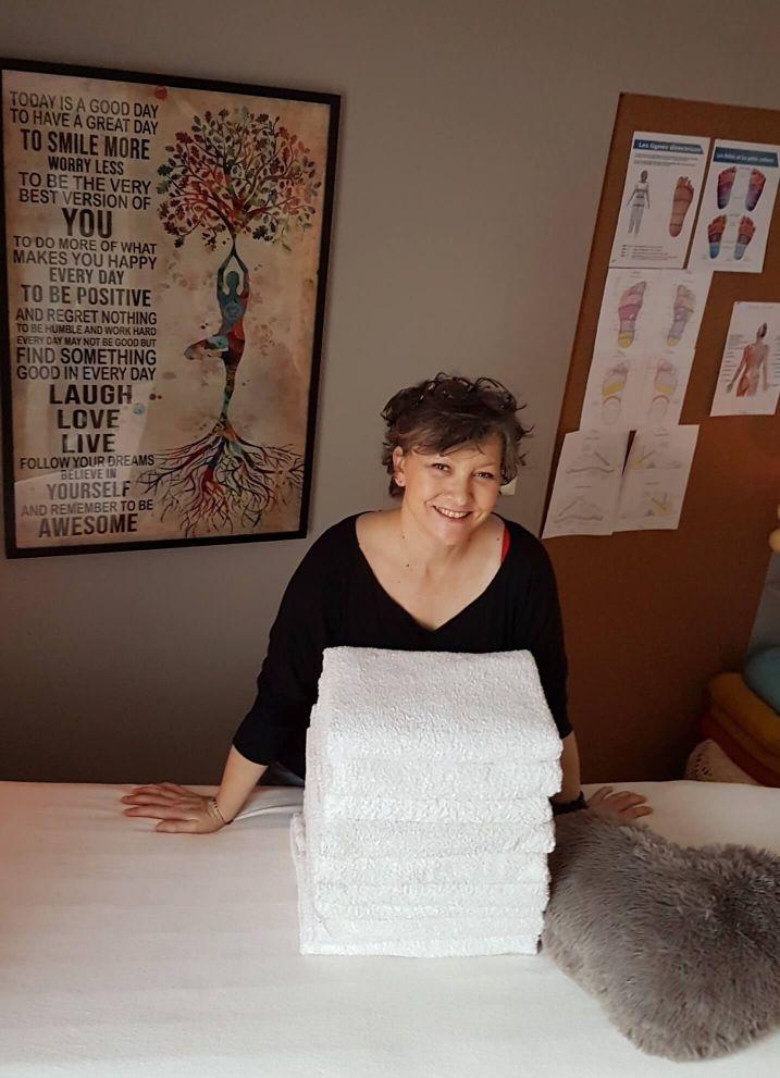 Stéphanie, praticienne de massages bien-être Masseuse Réflexologue à L'Empreinte du Corps